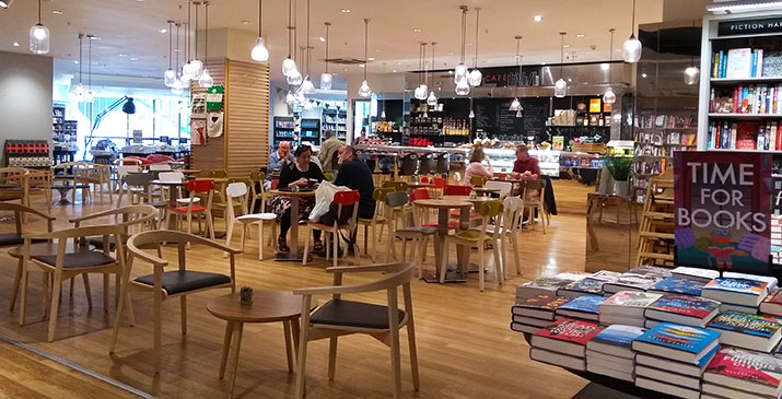Cafe at Waterstones in Liverpool