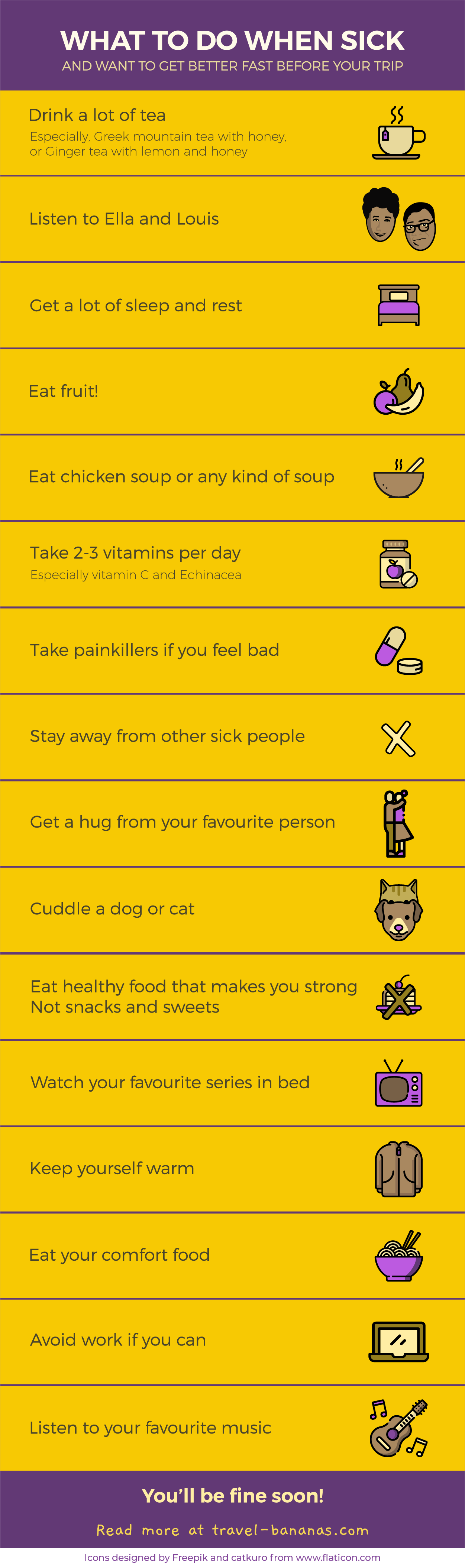 Infographic - What to do if you get sick